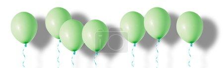 Green air flying balloons