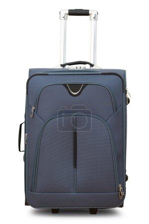 Large gray suitcase on wheels