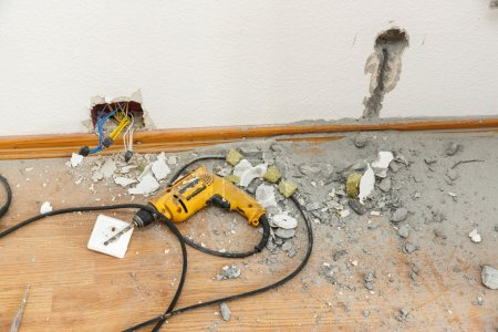 Socket repair process with drill