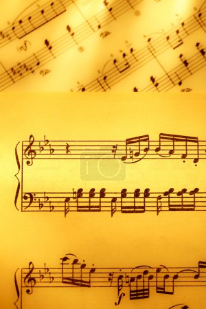 Music notes in yellow