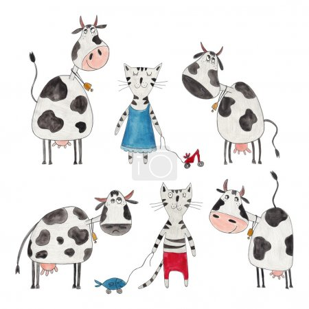 Cows and cats