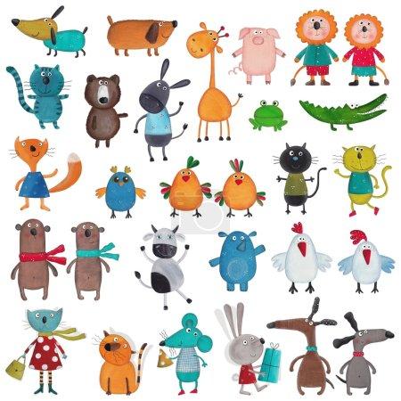 Mega-Sammlung von Cartoon-Haustieren