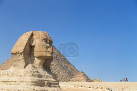 Tourists around the Great Sphinx of Giza