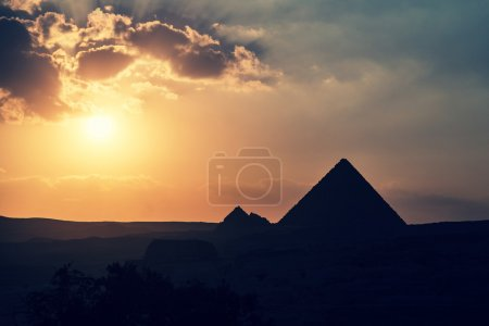 The Great Pyramid of Giza at sunset