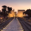 Night shot of Avenue of Sphinxes at Luxor temple...