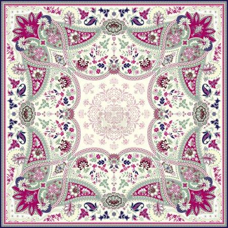 Detailed floral scarf design