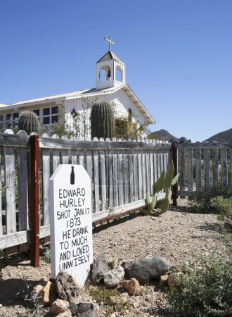 A Grave Marker of Old Tucson, Tucson, Arizona
