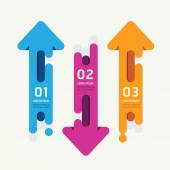 Arrow vector banners  ribbon colorful tags style/ can be used for infographics / number banner / number options /concept graphic or web design layout