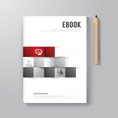 Illustration for Cover Book Digital Design Minimal Style Template, can be used for E-Book Cover, E-Magazine Cover, vector illustration - Royalty Free Image