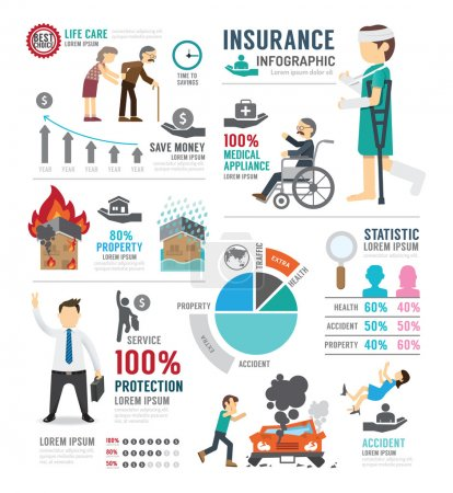 Insurance Template Design Infographic