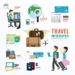 World Travel Business Template Design Infographic....
