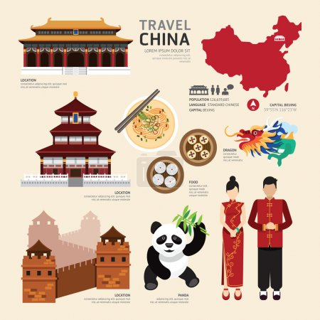 China Flat Icons Design