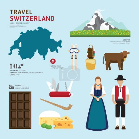 Switzerland Flat Icons