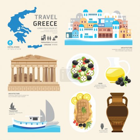 Greece Flat Icons