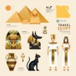 Egypt Flat Icons Design Travel Concept.Vector...