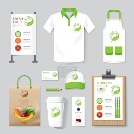 Set of corporate identity mock up template.