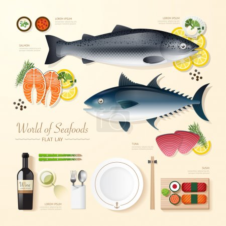 Business Infographic seafood