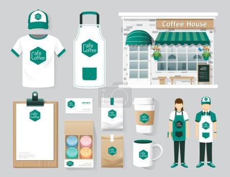 Cafe set of corporate identity