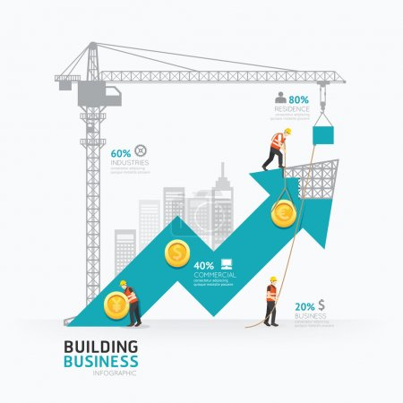 Infographic business arrow shape template