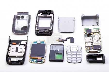 Disassembled mobile phone