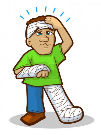 Injured Man Cartoon