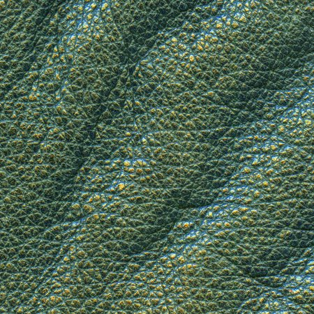 Photo for Piece of old crumpled green leather as background - Royalty Free Image