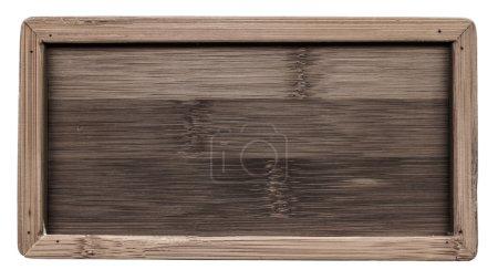 Photo pour Vieux cadre en bois isolé sur fond blanc - image libre de droit