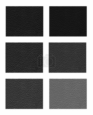 Samples of shades of black leather