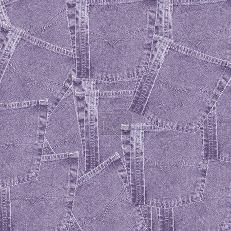 Violet  jeans pockets