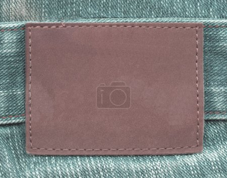 brown leather label