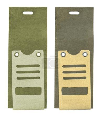 Two cardboard tagsi