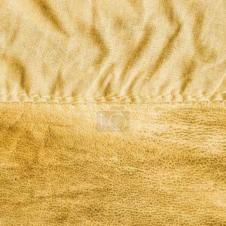 Yellow leather and fabric textures