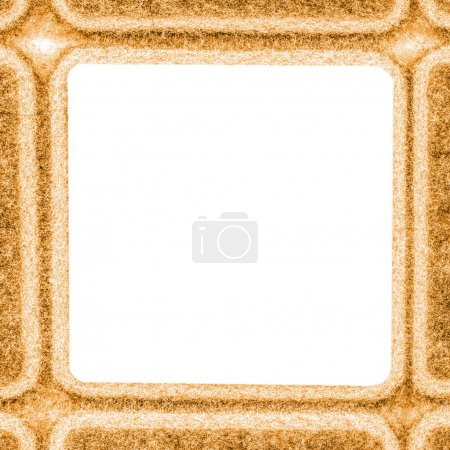 Yellow square frame.