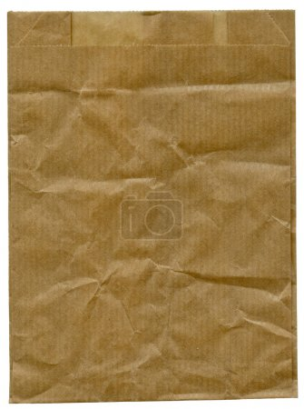 Crumpled packing paper