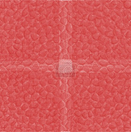 red background based on leatherette texture