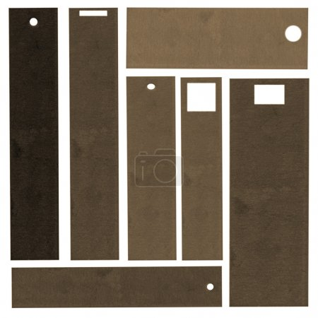 set of brown blank cardboard tags                                                                                            set of brown blank cardboard tags