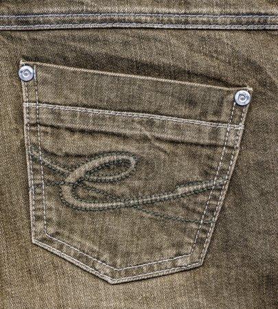 brown jeans pocket