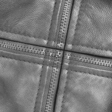 gray leather texture, zippers