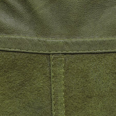 background of two kinds of green leather