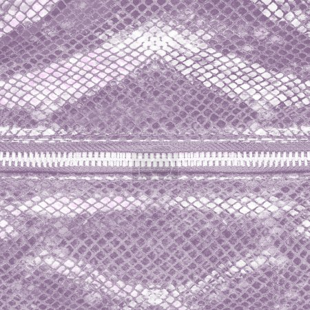 violet artificial snake skin texture closeup, zipper