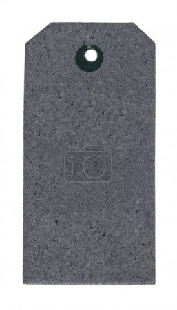 blank gray cardboard tag isolated on white