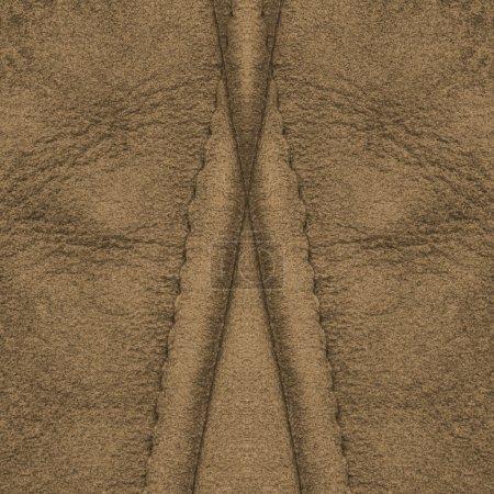 Photo pour Texture de cuir brun, coutures - image libre de droit