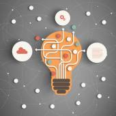 Modern Business Concept  Info Graphic Elements Idea Lightbulb with many Solutions