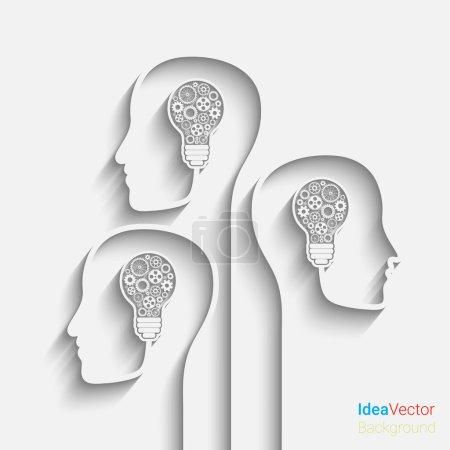 Illustration pour La tête humaine crée une nouvelle idée. Eps10 vecteur pour votre conception - image libre de droit