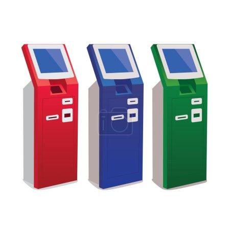 Illustration for Vector illustration of ATM - Royalty Free Image