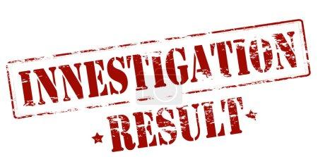 Investigation result stamp