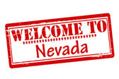 Rubber stamps with text welcome to Nevada inside vector illustration