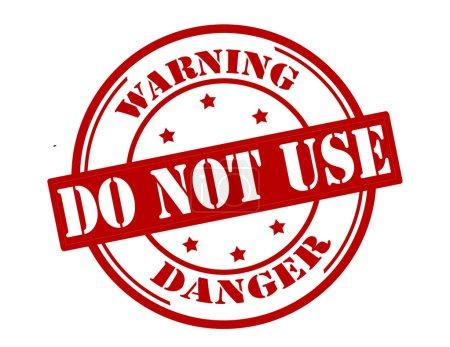 Illustration pour Timbre avec avertissement texte ne pas utiliser à l'intérieur, illustration vectorielle - image libre de droit