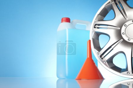 Car accessories with windshield washer fluids