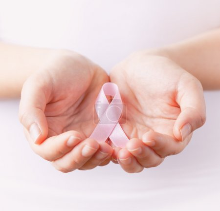 pink breast cancer awareness ribbon in gands
